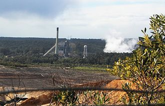 Anglesea Power Station - The single steam turbine 150MW Anglesea power station. Photo: John Englart