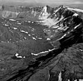 Aniakchak Crater, Ash Glacier and valley glacier in the background, crater walls and floor, August 24, 1960 (GLACIERS 7065).jpg