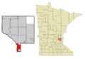 Anoka Cnty Minnesota Incorporated and Unincorporated areas Fridley Highlighted.png