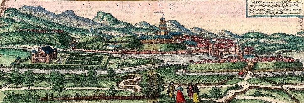 Ansicht Kassel (Braun Hogenberg) 1572