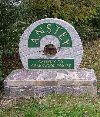 Anstey, Leicestershire - Image: Anstey Gateway 20071026