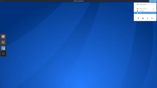 Antergos Linux menu