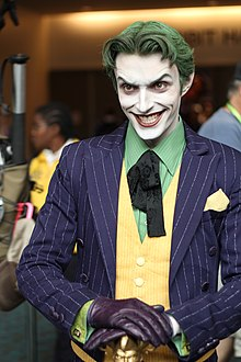 Cosplay du Joker (Anthony Misiano au Comic,Con, San Diego, 2012).