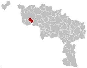 Antoing - Image: Antoing Hainaut Belgium Map
