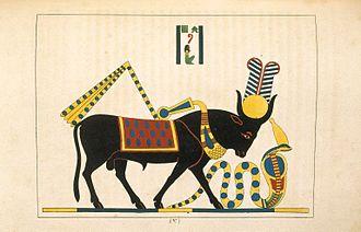 Apis (deity) - Api or Hapi (Apis, Taureau Consacré a la Lune), N372.2, Brooklyn Museum