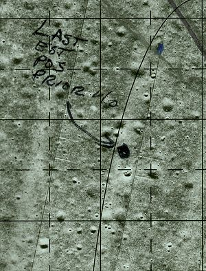 Writing in space - Notes on a map written with a felt-tip pen by Michael Collins while in orbit around the Moon
