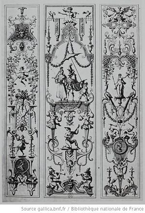 Jean Bérain the Elder - Arabesque designs by Bérain