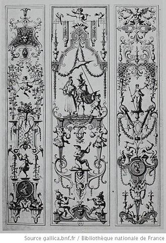 Jean Bérain the Elder - Arabesque designs by Bérain