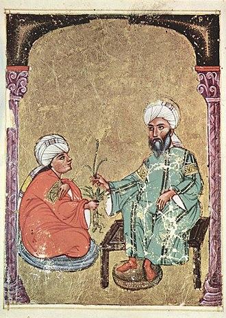 Medicine in the medieval Islamic world - Image: Arabischer Maler des Kräuterbuchs des Dioskurides 004