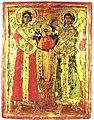 Archangels Michael and Gabriel - 18th Century Icon from Skopje Region.jpg