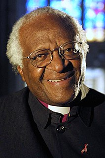 Desmond Tutu South African churchman, politician, archbishop, Nobel Prize winner