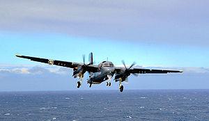 Gringo-Gaucho - S-2T Turbo Tracker approaching USS Carl Vinson
