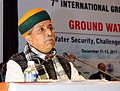 Arjun Ram Meghwal addressing at the inauguration of a three day International Conference on Ground Water Vision 2030- Water Security Challenges and Climate Change Adaptation, in New Delhi.jpg