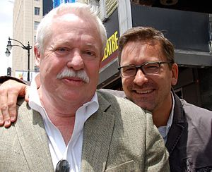 Armistead Maupin - Maupin (left) with husband Christopher Turner in May 2013