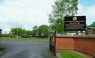 Whittington Barracks - Entrance to the Staffordshire Regiment Museum