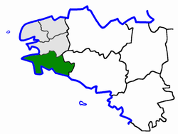 Location of Arrondisement of Quimper in France