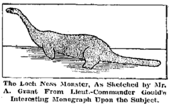Loch Ness Monster - Sketch of the Arthur Grant sighting.
