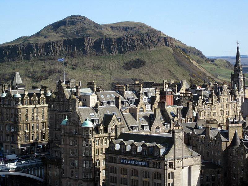 Arthur's Seat in Edinburgh in Scotland, Great Britain