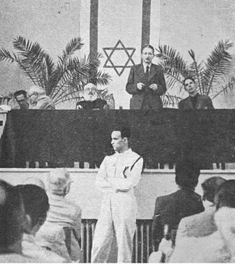 Yishuv - Yitzhak Ben-Zvi at Asefat Hanivharim, September 1944