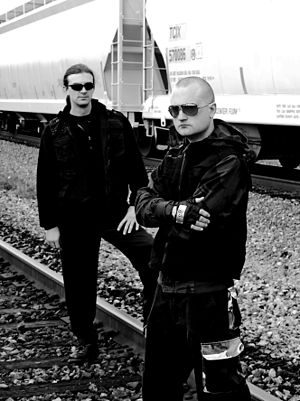 Asmodeus X - Asmodeus X: left to right, Brad Marshall, Paul Fredric.