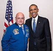 Astronaut Scott Kelly and President Barack Obama