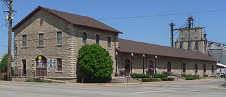 National Register of Historic Places listings in Atchison County, Kansas - Image: Atchison, Kansas Santa Fe depot from SW 1