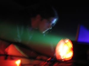 """Jan Robbe - Jan Robbe performing as Atomhead at the 2008 """"Only the Hard Survive"""" festival in Waregem, Belgium."""