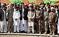 Attendees of the Voices of Moderate Islam reunion pose for a group photo at Forward Operating Base Shank in Logar province, Afghanistan, Oct 101014-A-UH396-235.jpg