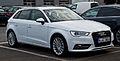 Audi A3 Sportback 1.4 TFSI Ambition (8V) – Frontansicht, 11. August 2013, Wuppertal.jpg