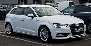 Audi A3 Sportback 1.4 TFSI Ambition (8V) – Frontansicht, 11. August 2013, Wuppertal.jpg