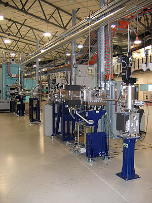 Beamline - The exposed workings of a soft x-ray beamline and endstation at the Australian Synchrotron