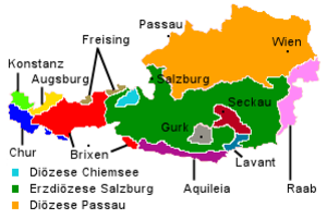 Roman Catholic Diocese of Lavant - Catholic dioceses in present-day Austria about 1300