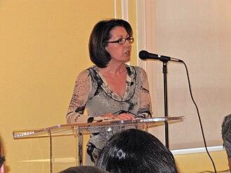 Marie Arana - Arana speaking at the Peruvian Embassy in Washington, DC in 2010