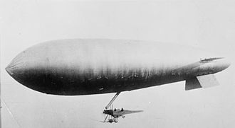 SS class airship - An SS class airship using a B.E.2c fuselage as a gondola