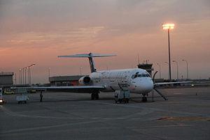 Avión en El Prat (Barcelona)