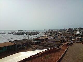 Axim Town in Western Region, Ghana