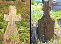 Az utolsó hagyományos fakeresztek az újkígyósi temetőben 2005.jpg