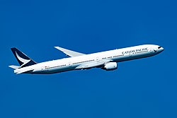 Boeing 777-300 der Cathay Pacific