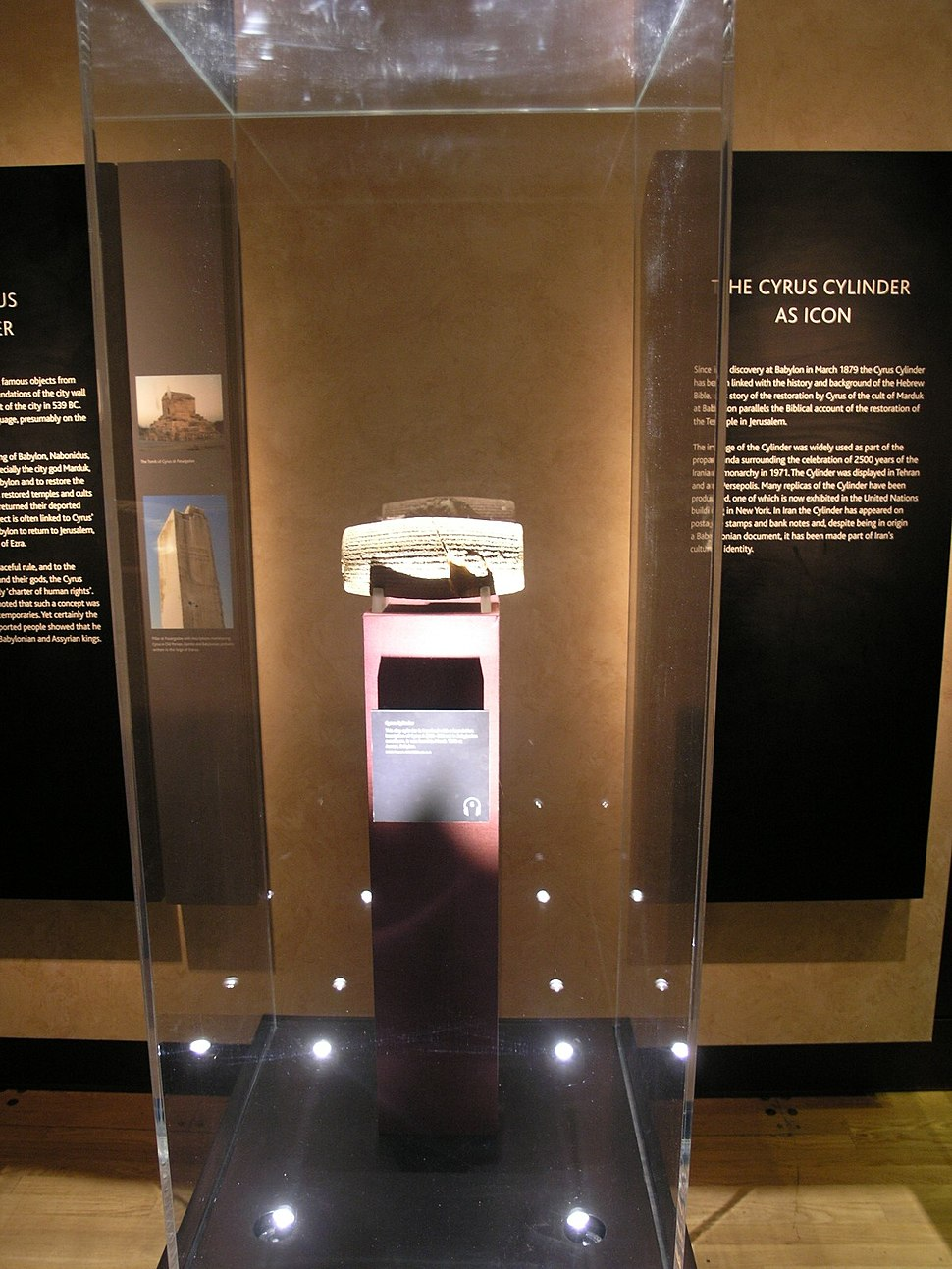 BM; ANE - Forgotten Empire Exhibition, The Cyrus Cylinder (Room 5)