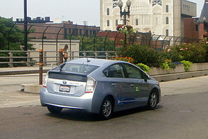 English: Toyota Prius Plug-in Hybrid demonstra...