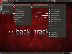 BackTrack 5 R1 Gnome Desktop