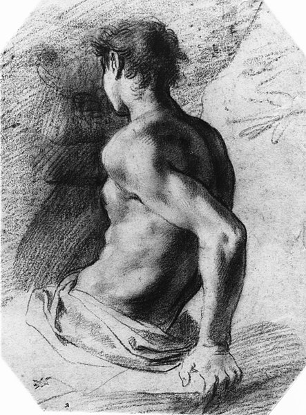File:Back View of a Seated Nude Youth Facing Left MET 10971.jpg