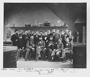 Ludwig Maximilian University of Munich - Adolf von Baeyer, Emil Fischer, Jacob Volhard and other chemists at LMU in 1877