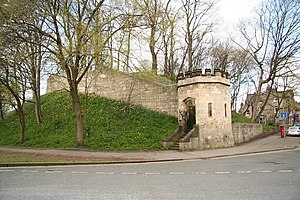 Harrying of the North - Remains of the motte at Baile Hill, York 1068–69.
