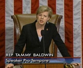 Tammy Baldwin - Baldwin presiding over the House while serving as Speaker Pro Tempore