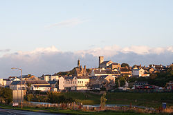 Ballyshannon as seen from the Beleek Road in the morning