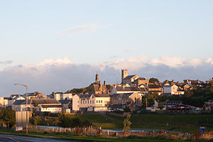 Ballyshannon - Ballyshannon as seen from the Beleek Road in the morning