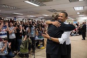 Jim Messina (political staffer) - Messina celebrates Obama's reelection in November 2012.