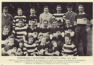 Andrew Stoddart - Stoddart with the first touring Barbarians. Stoddart seated central with ball