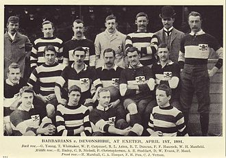 Percy Christopherson - Christopherson with the Barbarians, middle row third from left.